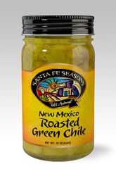 Santa Fe Seasons Fire Roasted Green Chile-3 jars Med or Hot