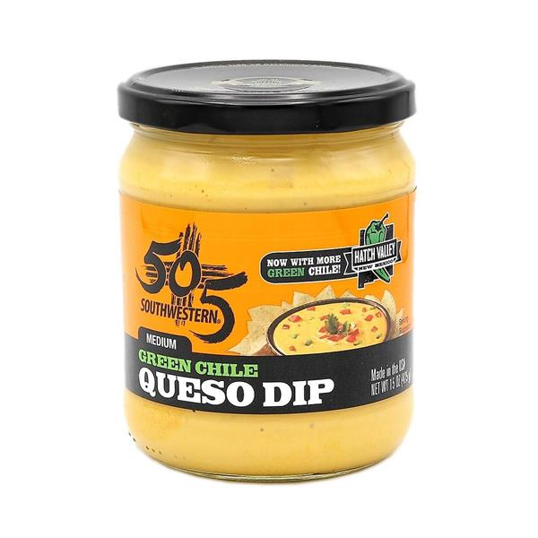 505 Southwestern Hatch Valley Green Chile Queso Dip-3 jars