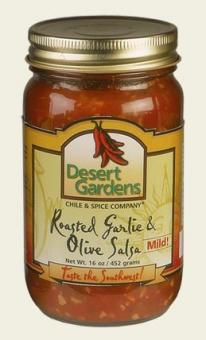 Desert Gardens Roasted Garlic & Olive Salsa- 3 Pack