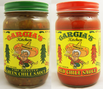 Garcia's Kitchen Restaurant Combo Pack-Red Chile Sauce & Green Chile Sauce 4 Pack