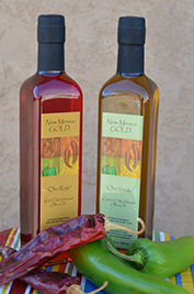 New Mexico Gold Red Chile & Green Chile Infused Olive Oil Set