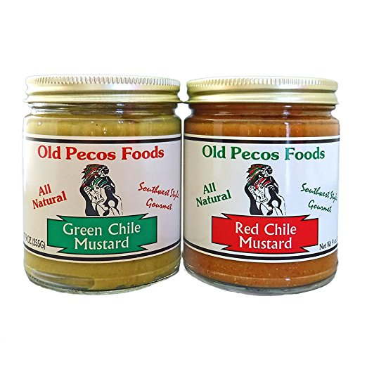 Old Pecos Green Chile & Red Chile Mustard Set