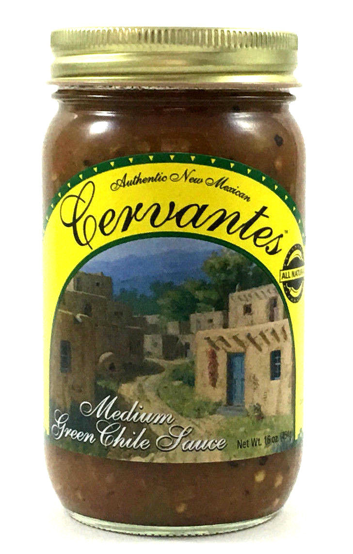 Cervantes Green Chile Sauce- 3 Pack(Medium or Hot)