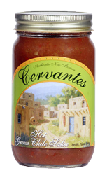 Cervantes Hot Green Chile Salsa- 3 Pack