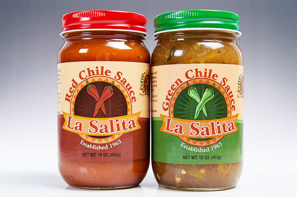 La Salita Green Chile & Red Chile Sauce-4 Pack