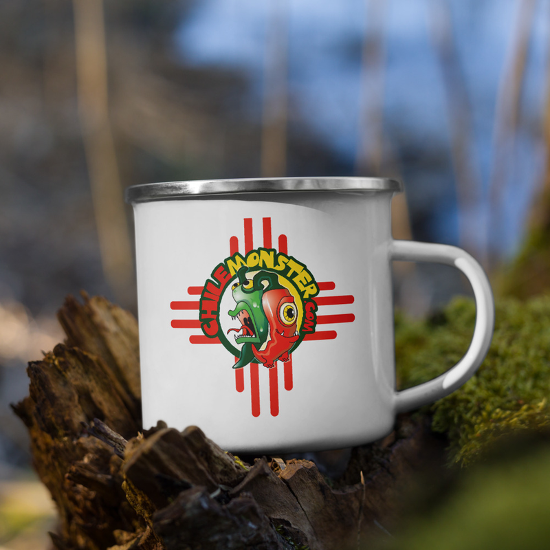 Chile Monster Enamel Logo Mug