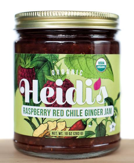 2 Jars Heidi's Organic Raspberry Red Chile Ginger Jam