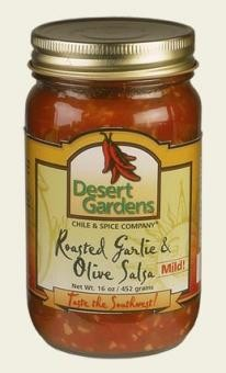 Desert Gardens Roasted Garlic & Olive Salsa- 3 Pack (Mild or Hot)