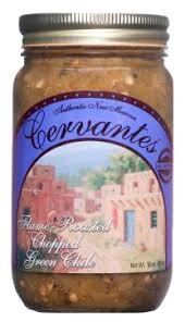 Cervantes Flame Roasted Chopped Green Chile Sauce- 3 Pack